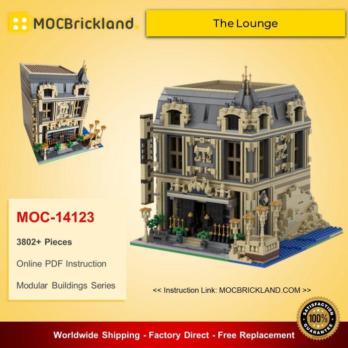 Modular Buildings MOC-14123 The Lounge (10253 Big Ben Alternate Model Modular) By Huaojozu MOCBRICKLAND