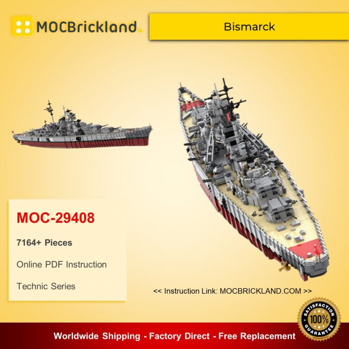 Technic moc-29408 bismarck by rad0lf mocbrickland