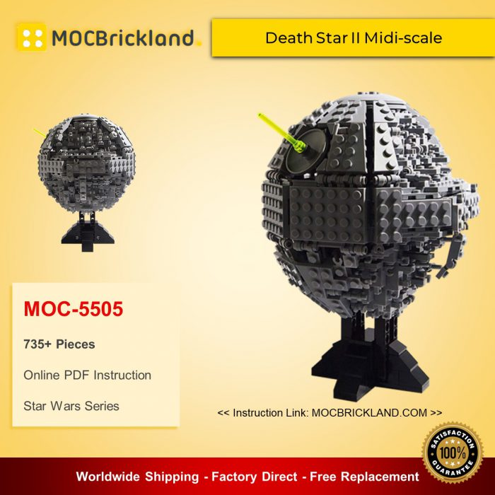 Star wars moc-5505 death star ii midi-scale by 집중 mocbrickland
