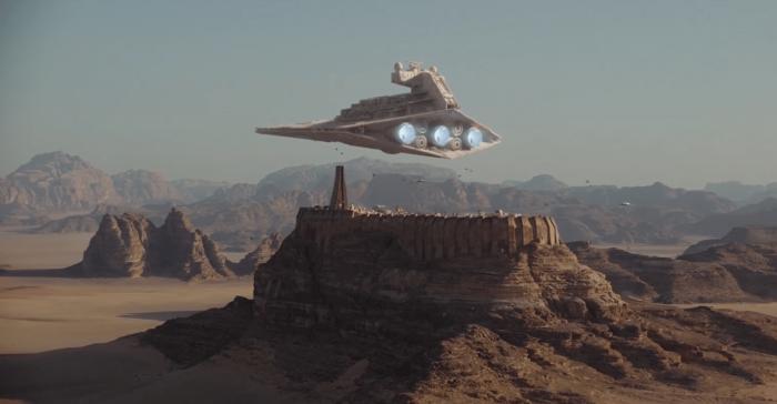 Star wars moc 47569 mini scale destroyer over jedha lepin™ land