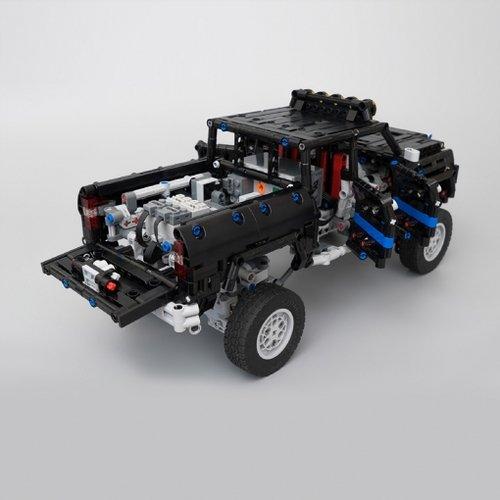 MOC-16304 Technic Dual-Driveshaft Pickup by KevinMoo