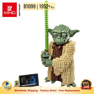 KING 81099 Yoda Star Wars Series Compatible LEGO 75255