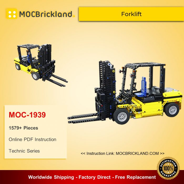 Technic MOC-1939 Customized Forklift KevinMoo MOCBRICKLAND