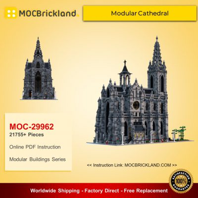 Modular Buildings MOC-29962 Modular Cathedral by Das_Felixle MOCBRICKLAND