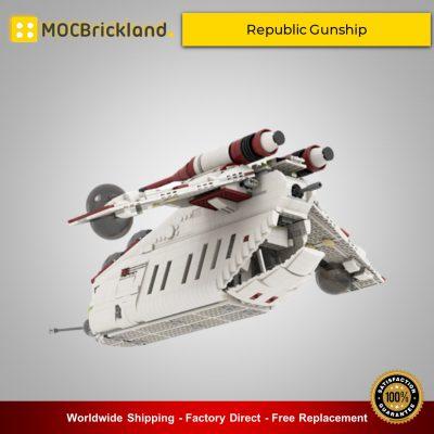 STAR WARS MOC 35919 Republic Gunship based set 75021 by Ohsojang MOCBRICKLAND