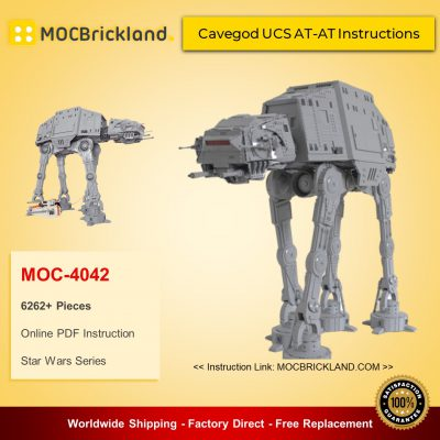 Star Wars MOC 4042 Cavegod UCS AT-AT Instructions by cjd_223