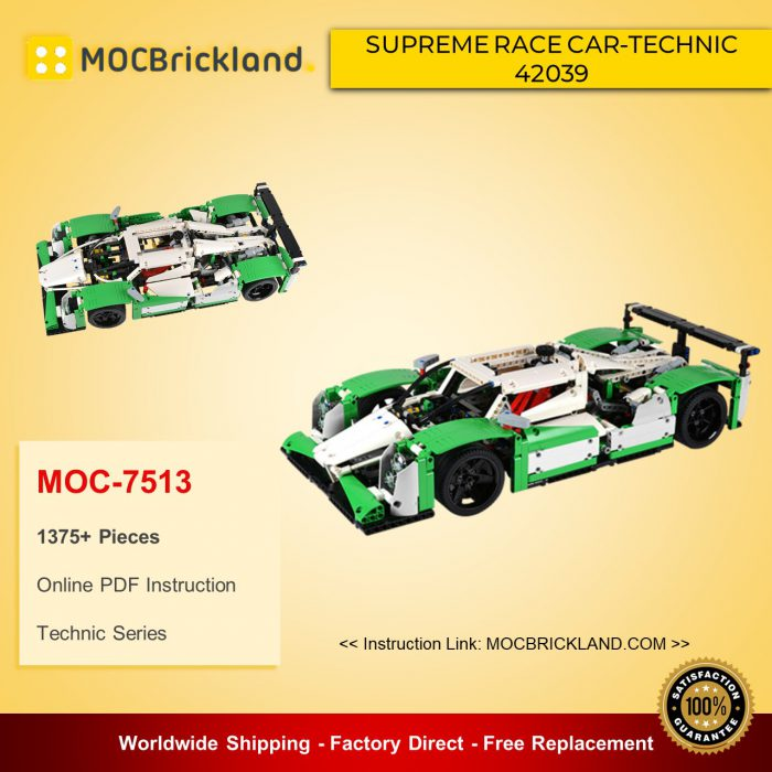 Technic moc-7513 supreme race car-technic 42039 motorized version 3. 1 by modoro mocbrickland