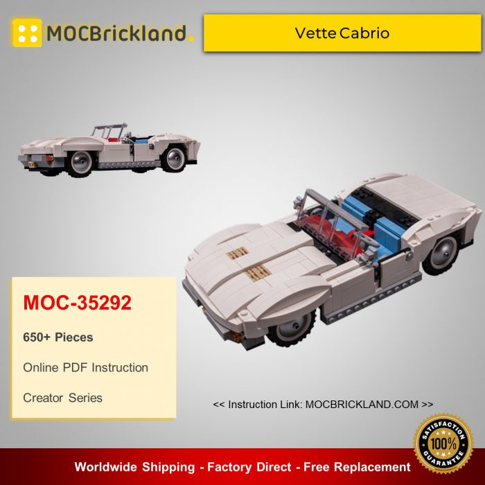Creator moc-35292 10220 vette cabrio by keep on bricking mocbrickland
