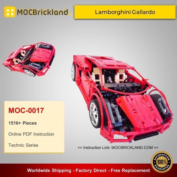 Technic MOC-0017 Lamborghini Gallardo By Crowkillers MOCBRICKLAND