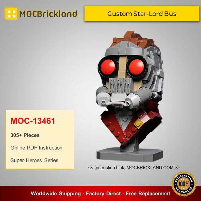 Super heroes moc-13461 custom star-lord bust by buildbetterbricks mocbrickland