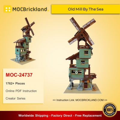 Creator MOC-24737 Old Mill By The Sea By nobsta MOCBRICKLAND
