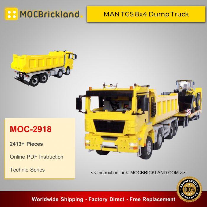 Technic moc-2918 man tgs 8x4 dump truck by m_longer mocbrickland