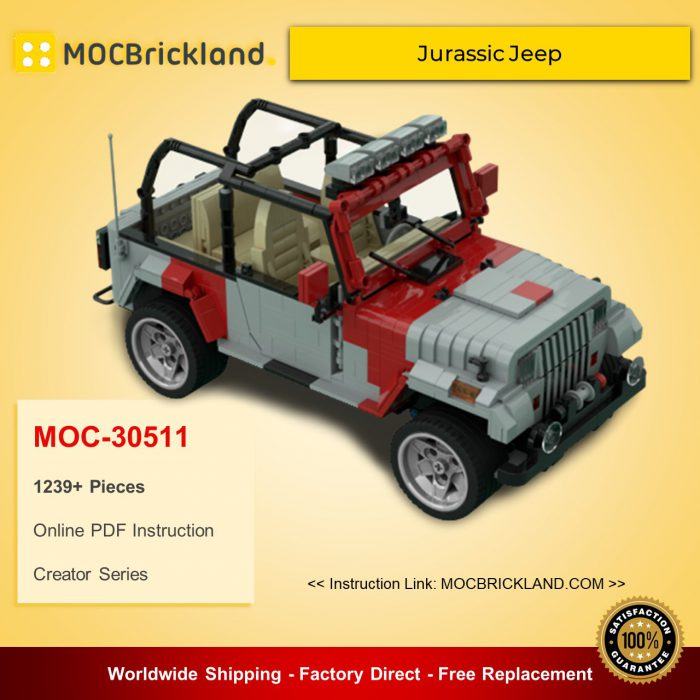 Creator moc-30511 jurassic jeep by victaven mocbrickland