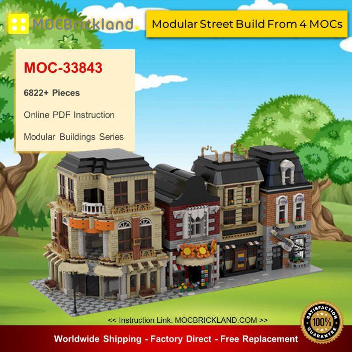 Modular buildings moc-33843 modular street build from 4 mocs by gabizon mocbrickland