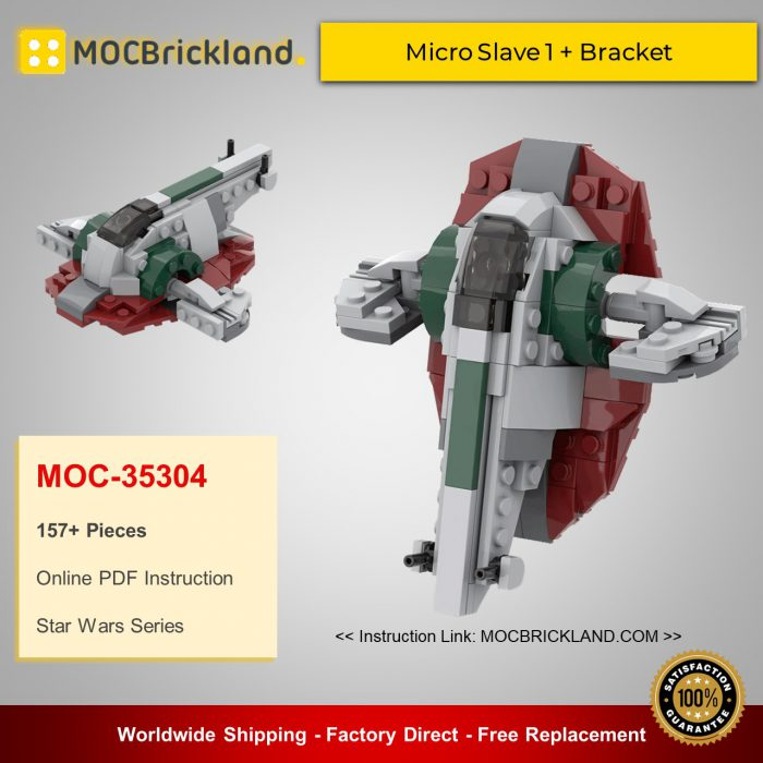 Star Wars MOC-35304 Micro Slave 1 + Bracket By ron_mcphatty MOCBRICKLAND
