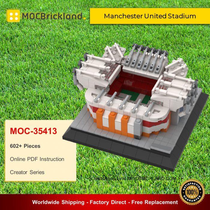 Creator moc-35413 manchester united stadium mini model by gabizon mocbrickland
