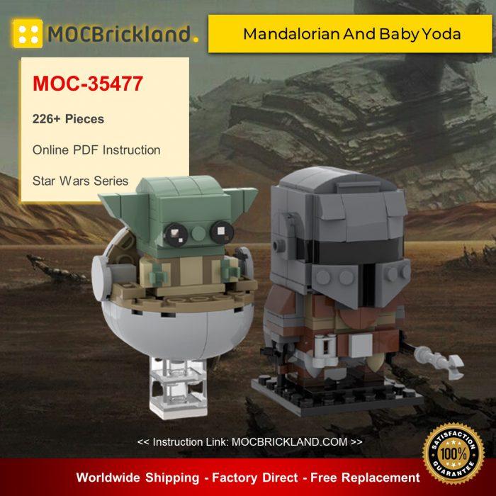 Star wars moc-35477 mandalorian and baby yoda by custominstructions mocbrickland