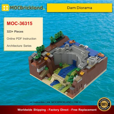 Architecture MOC-36315 Dam Diorama By LegoOri MOCBRICKLAND