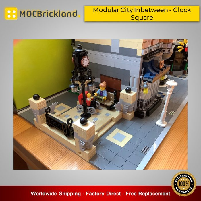Modular Buildings MOC-41731 Modular City Inbetween - Clock Square By SugarBricks MOCBRICKLAND