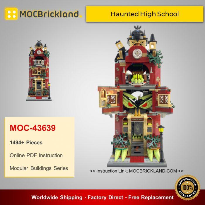 Modular buildings moc-43639 modular haunted high school mocbrickland