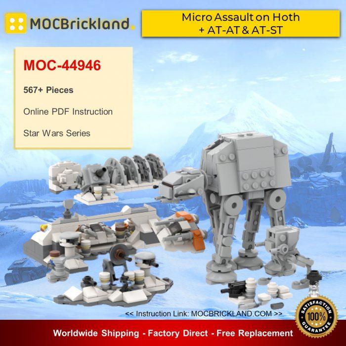 Star wars moc-44946 micro assault on hoth + at-at & at-st by ron_mcphatty mocbrickland