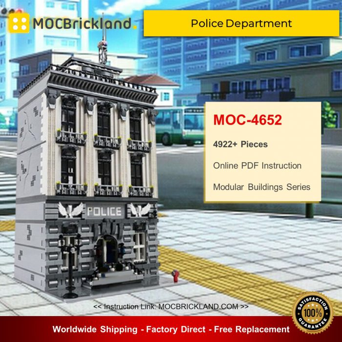 Modular buildings moc-4652 police department by stebrick mocbrickland