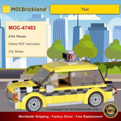 City MOC-47483 Taxi By BrickPolis MOCBRICKLAND