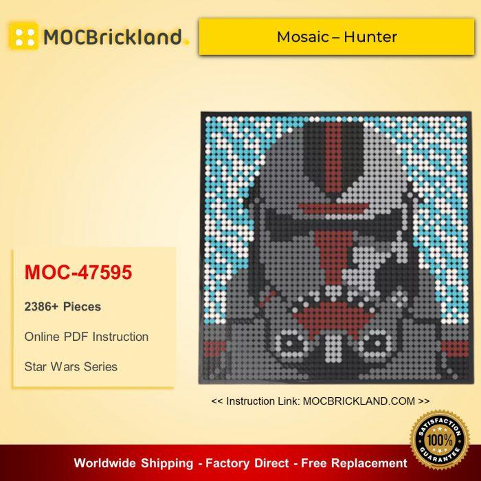 Star Wars MOC-47595 Bad Batch LEGO Art Mosaic – Hunter By lego_marvel_skylines MOCBRICKLAND