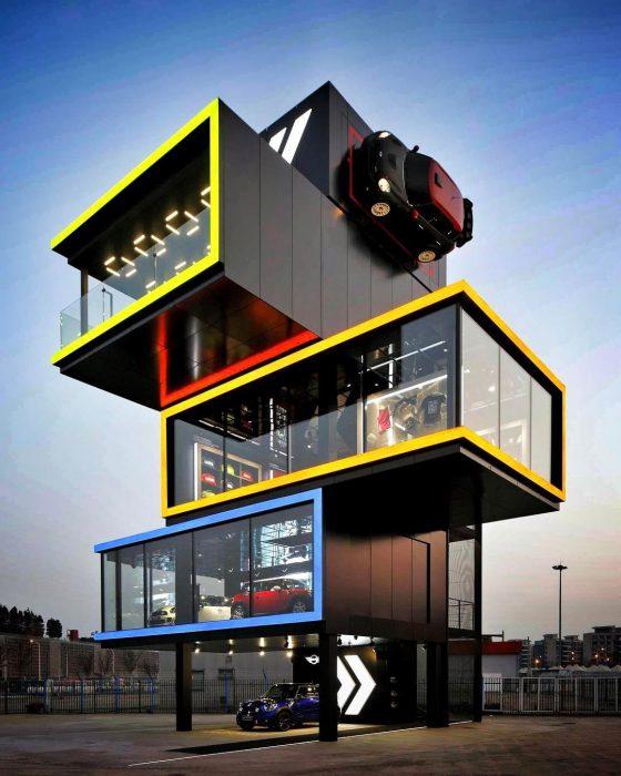 Modular buildings moc-46907 motor studio modular (2020) by ohsojang mocbrickland