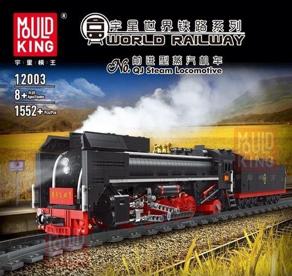 Technic MOULDKING 12003 RC QJ Steam Locomotive