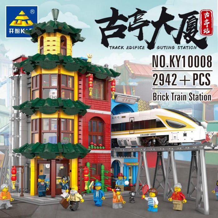 City KAZI KY10008 Train Station With Lights