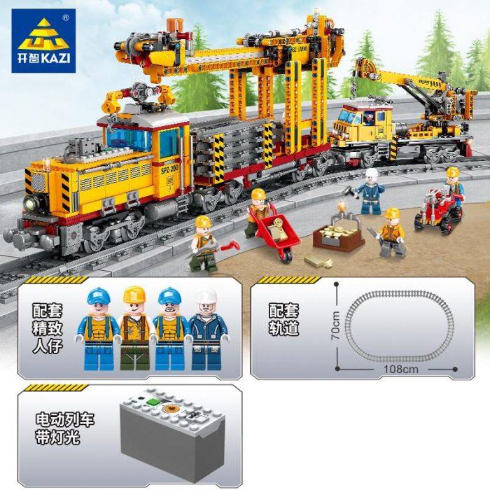 Creator kazi 98253 railway train with light and sound