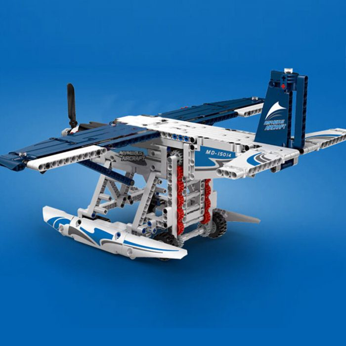 Technic MOULDKING 15014 Motorized Amphibious Plane Model