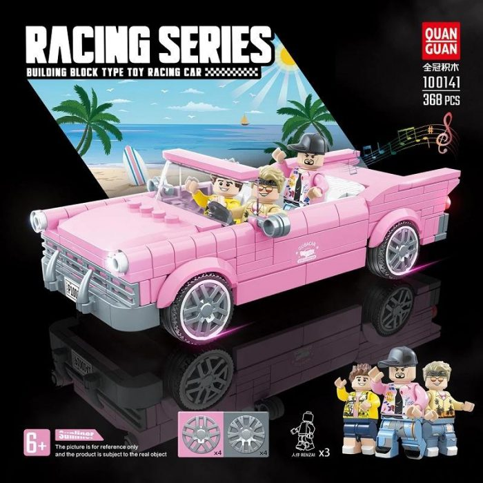 Technic QUANGUAN 100141 Pink Super Racing Car