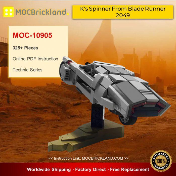 Technic MOC-10905 K's Spinner From Blade Runner 2049 By BricksFeeder MOCBRICKLAND