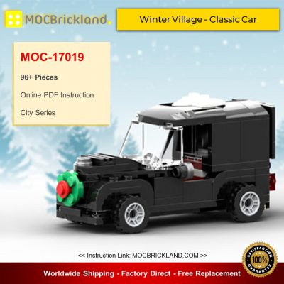City MOC-17019 Winter Village - Classic Car By brick_monster MOCBRICKLAND