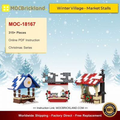 Christmas MOC-18167 Winter Village - Market Stalls By brick_monster MOCBRICKLAND