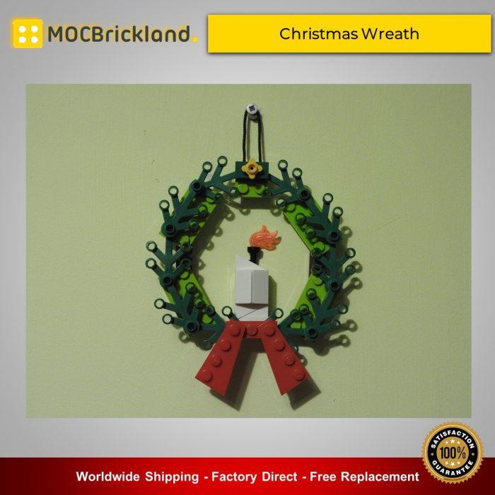 Christmas moc-20348 christmas wreath by karolwes mocbrickland