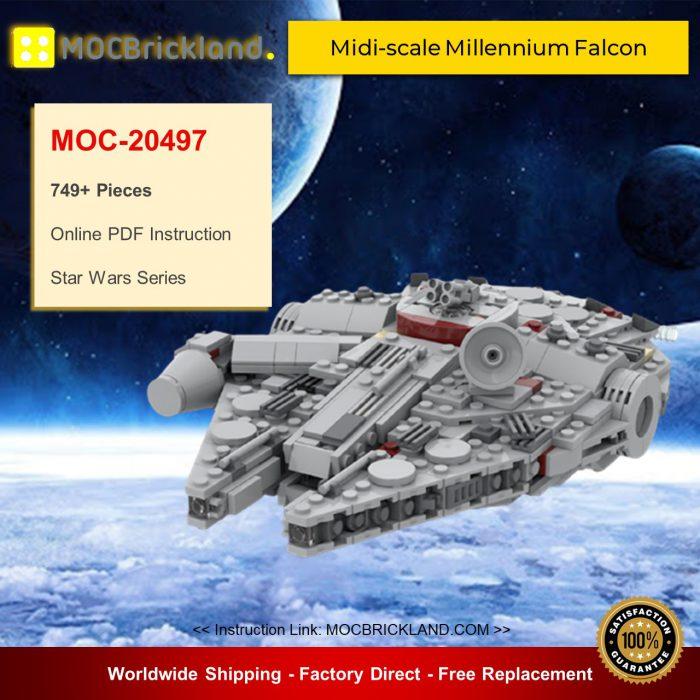 Star wars moc-20497 midi-scale millennium falcon by cpt. Ammogeddon mocbrickland