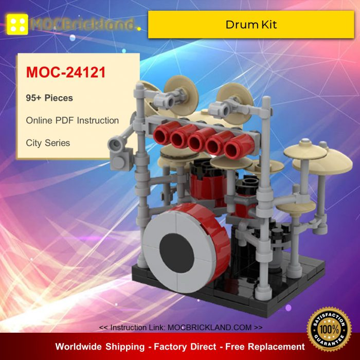 City MOC-24121 Drum Kit By Moc LEGO MOCBRICKLAND
