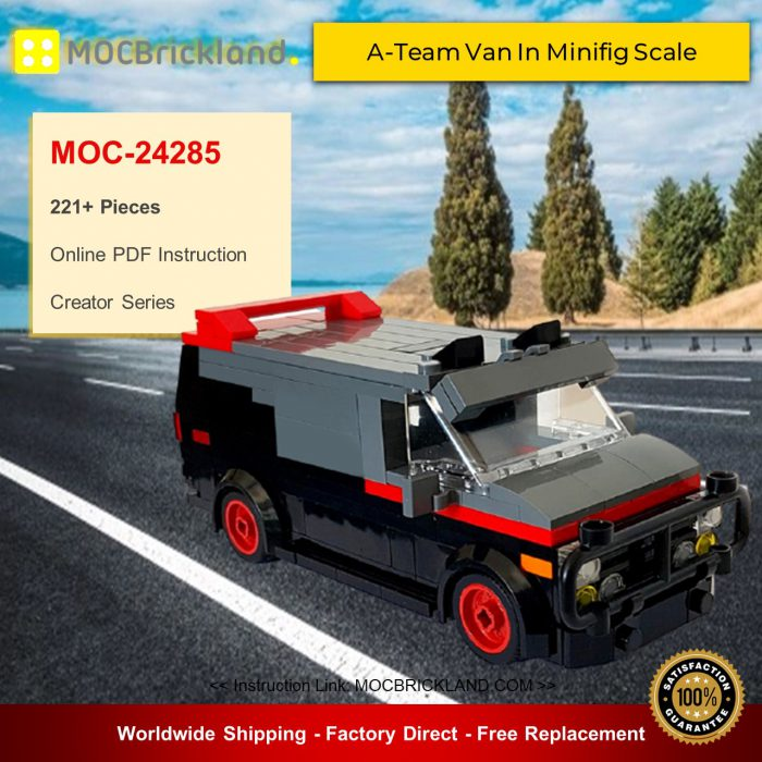 Creator moc-24285 a-team van in minifig scale by florian_wayne mocbrickland