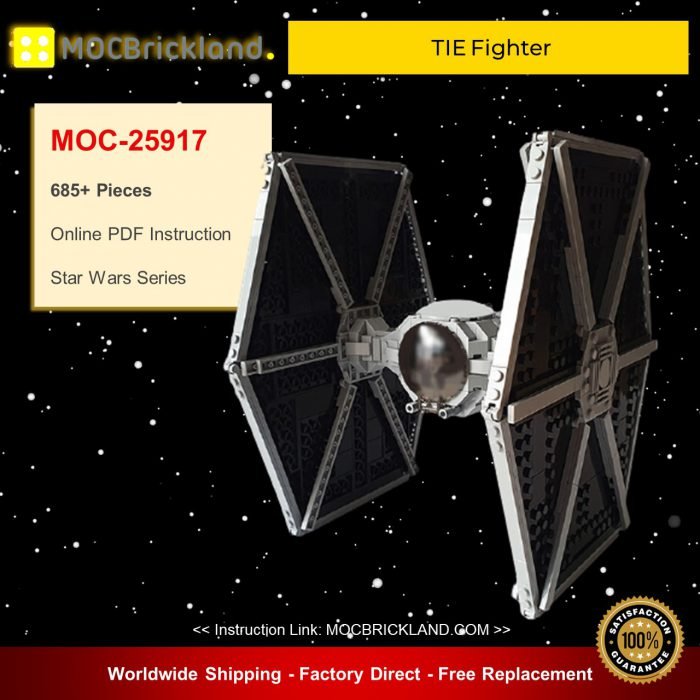 Star Wars MOC-25917 TIE Fighter By EDGE OF BRICKS MOCBRICKLAND