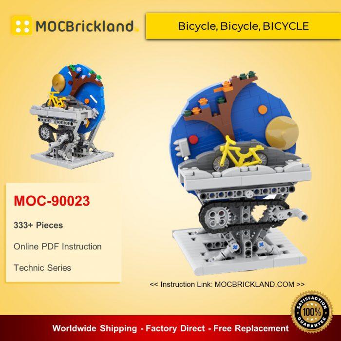 Technic moc-90023 bicycle, bicycle, bicycle mocbrickland