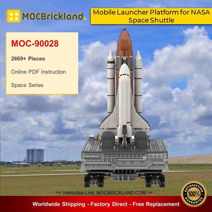Space moc-90028 mobile launcher platform for nasa space shuttle mocbrickland