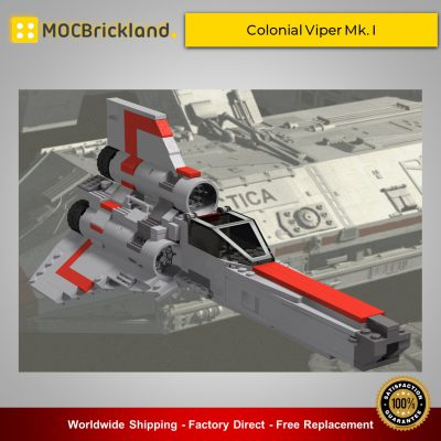 Space MOC-9784 Colonial Viper Mk. I By BricksWithWings MOCBRICKLAND