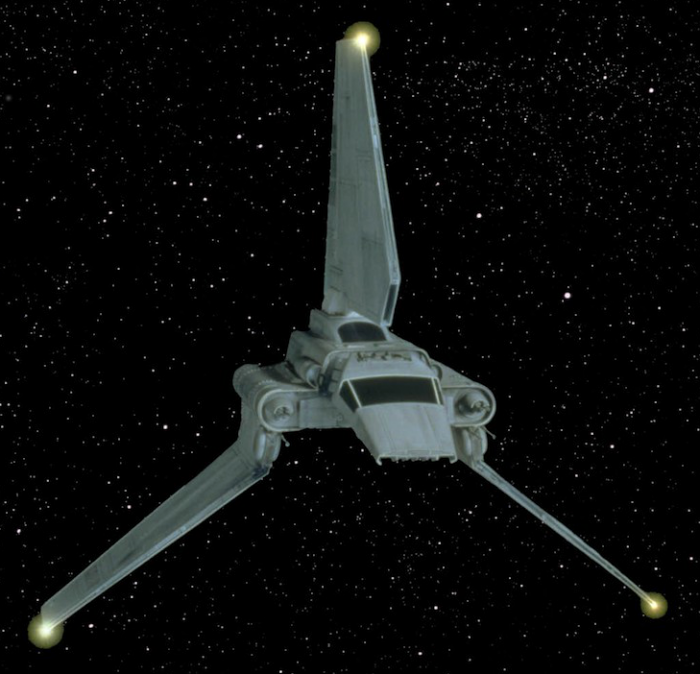 Star Wars Anonymous MK 91888 Imperial Shuttle