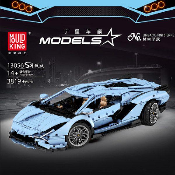 Technic MOULDKING 13056S The Blue Lambo Racing Car