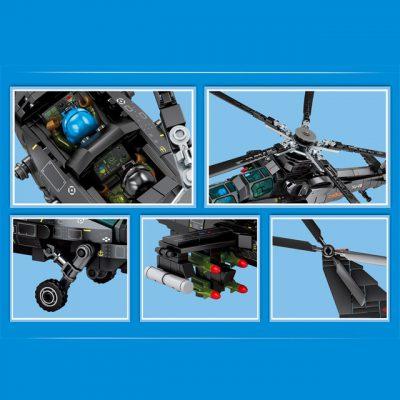Creator SEMBO 202119 Z 10 Attack Helicopter 3