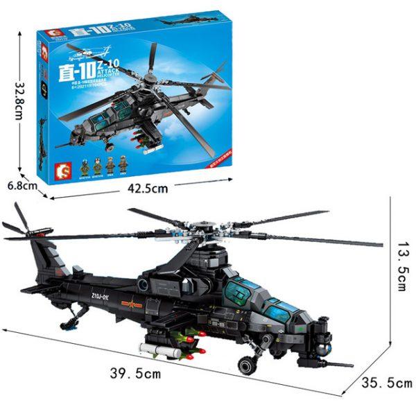 Creator SEMBO 202119 Z 10 Attack Helicopter 4