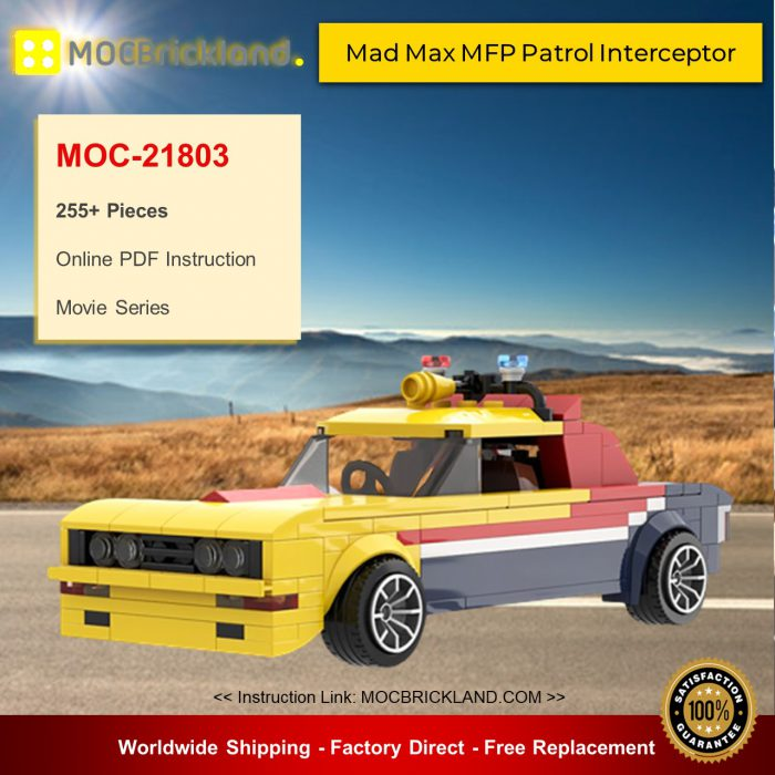 Movie MOC-21803 Mad Max MFP Patrol Interceptor By mkibs MOCBRICKLAND